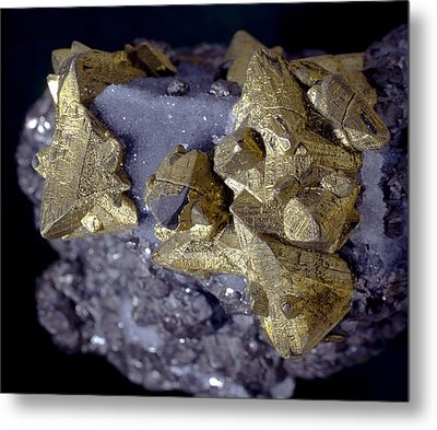 Tetrahedrite Metal Print by Science Photo Library