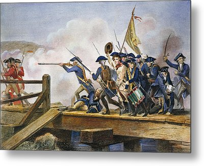 The Battle Of Concord, 1775 Metal Print by Granger
