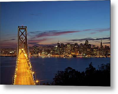 The Bay Bridge From Treasure Island Metal Print by Chuck Haney