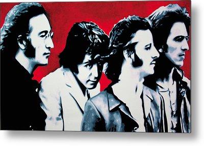 The Beatles Metal Print by Luis Ludzska