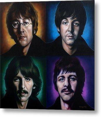 The Beatles Metal Print by Tim  Scoggins