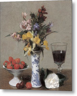 The Betrothal Still Life Metal Print by Henri Fantin-Latour