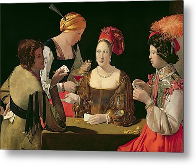 The Cheat With The Ace Of Diamonds Metal Print by Georges de la Tour