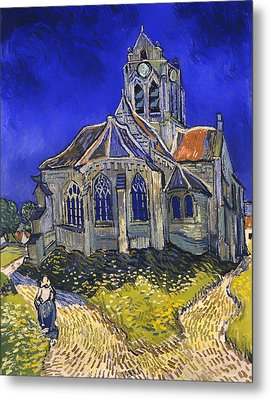 The Church In Auvers-sur-oise Metal Print by Mountain Dreams