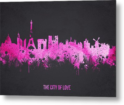 The City Of Love Metal Print by Aged Pixel