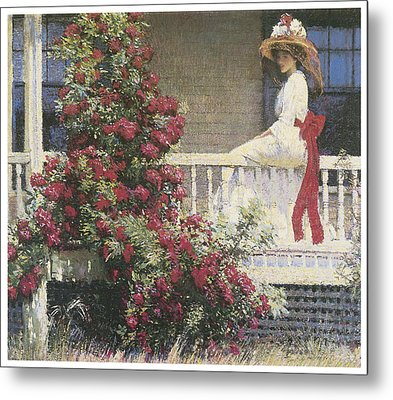 The Crimson Rambler Metal Print by Philip Leslie Hale