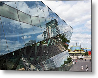 The Crystal Building Metal Print by Ashley Cooper