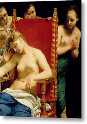 The Death Of Cleopatra  Metal Print by Guido Cagnacci