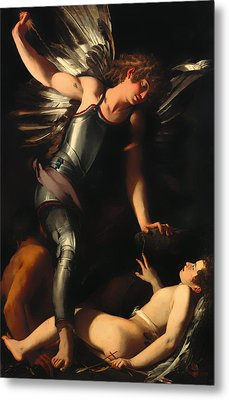 The Divine Eros Defeats The Earthly Eros Metal Print by Mountain Dreams