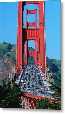 The Golden Gate Bridge And The Entrance Metal Print by John Alves