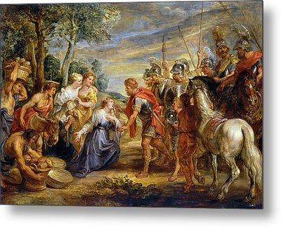The Meeting Of David And Abigail Metal Print by Peter Paul Rubens