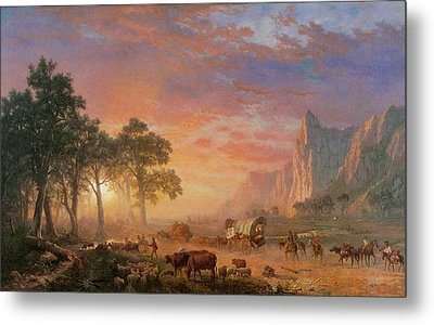 The Oregon Trail Metal Print by Albert Bierstadt