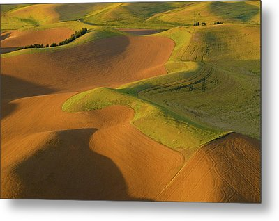 The Palouse From Above Metal Print by Latah Trail Foundation
