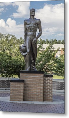 The Spartan Statue At Msu Metal Print by John McGraw