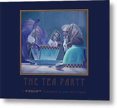 The Tea Party Metal Print by Leonard Filgate