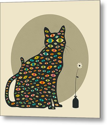 The Watcher Metal Print by Jazzberry Blue