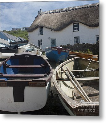 Tinker Taylor Cottage Sennen Cove Cornwall Metal Print by Terri Waters