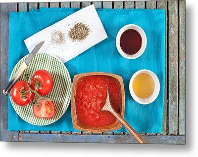 Tomatoes Metal Print by Tom Gowanlock
