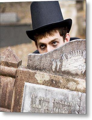 Tomb Stone Peek A Boo Metal Print by Jorgo Photography - Wall Art Gallery