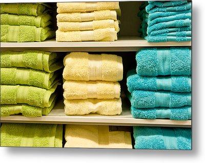 Towels Metal Print by Tom Gowanlock