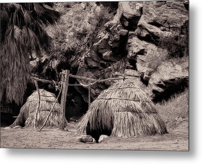Traditional Cahuilla Indian Huts Metal Print by Sandra Selle Rodriguez