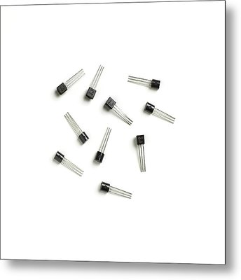 Transistors Metal Print by Science Photo Library