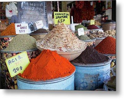Turkey, Gaziantep, Medina, Spice Market Metal Print by Emily Wilson