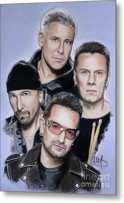 U2 Metal Print by Melanie D