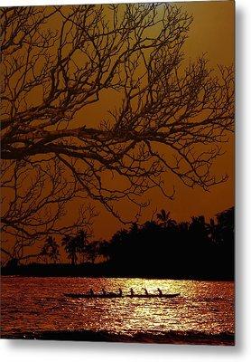 Under The Sunset Metal Print by Athala Carole Bruckner