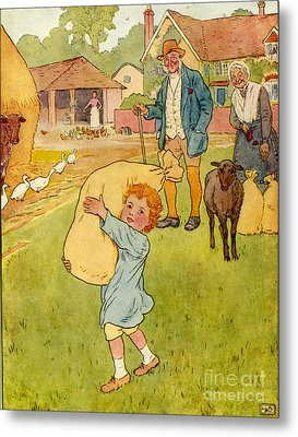 Usa Baa Baa Black Sheep Book Plate Metal Print by The Advertising Archives