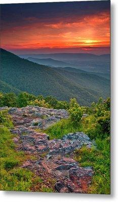 Usa, Virginia, Franklin Cliff Overlook Metal Print by Jaynes Gallery