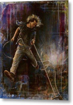 Vedder Metal Print by Josh Hertzenberg