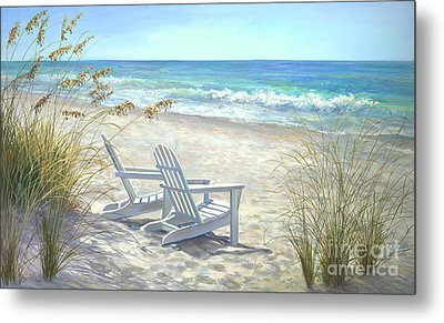 View For Two Metal Print by Laurie Hein
