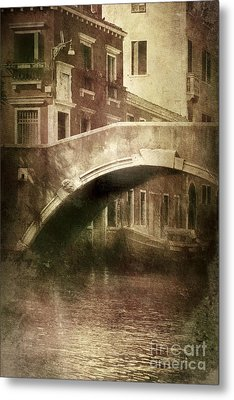 Vintage Shot Of Venetian Canal, Venice Metal Print by Evgeny Kuklev