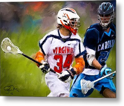 College Lacrosse 6 Metal Print by Scott Melby