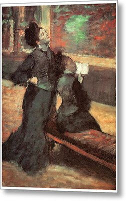 Visit To A Museum Metal Print by Edgar Degas