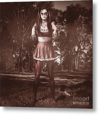 Walking Dead Schoolgirl Stumbling Back To School Metal Print by Jorgo Photography - Wall Art Gallery