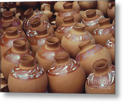 Water Pots Metal Print by Sue Sill