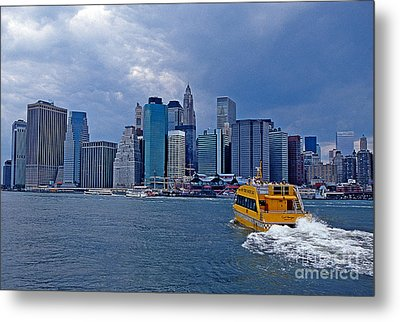 Water Taxi Metal Print by Bruce Bain