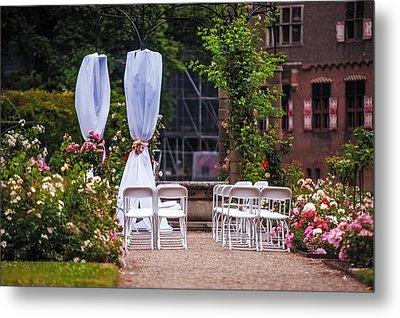 Wedding Arrangement In De Haar Castle. Utrecht Metal Print by Jenny Rainbow