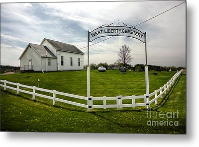 West Liberty Cemetery In Montezuma Iowa Metal Print by Gregory Dyer