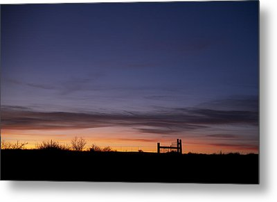 West Texas Sunset Metal Print by Melany Sarafis