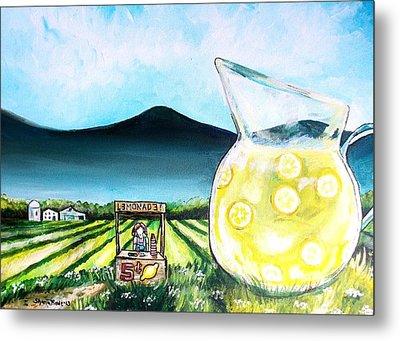 When Life Gives You Lemons Metal Print by Shana Rowe Jackson