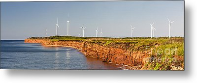 Wind Turbines On Atlantic Coast Metal Print by Elena Elisseeva