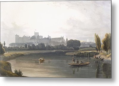 Windsor Castle From The River Thames Metal Print by William Daniell