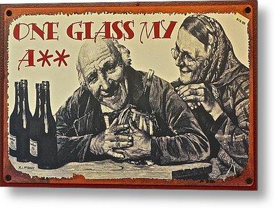 Wine Is Fine Metal Print by Frozen in Time Fine Art Photography