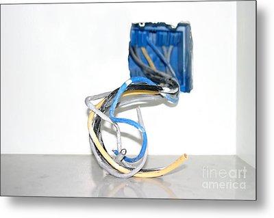 Wire Box Metal Print by Henrik Lehnerer
