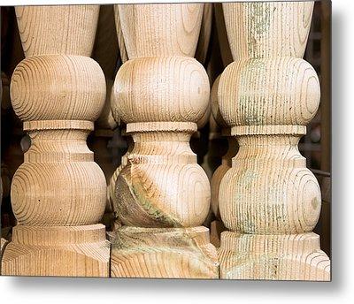 Wooden Posts Metal Print by Tom Gowanlock