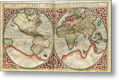 World Map Metal Print by Library Of Congress, Geography And Map Division