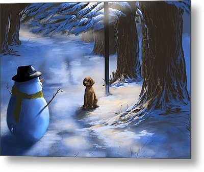 Would You Like To Play? Metal Print by Veronica Minozzi